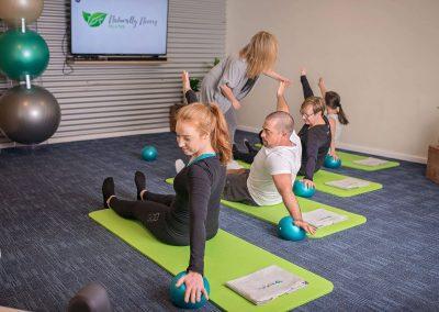 Group Mat Pilates Class Instruction