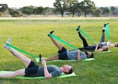 Pilates Theraband Hamstring Stretch